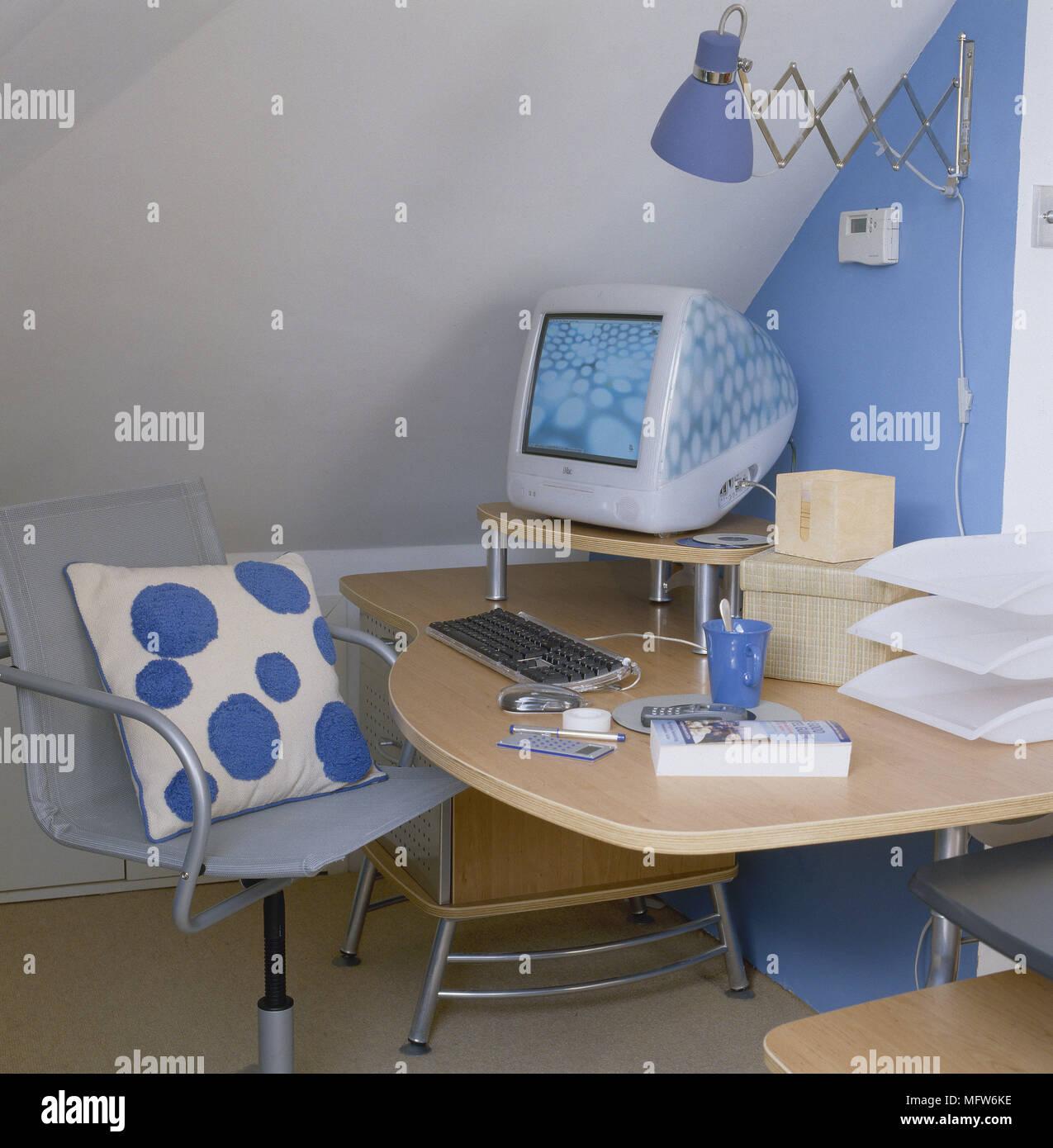 Casa De Oficina Madera Silla Giratoria Qsthdrc Con Escritorio Moderna eDYWbEH92I