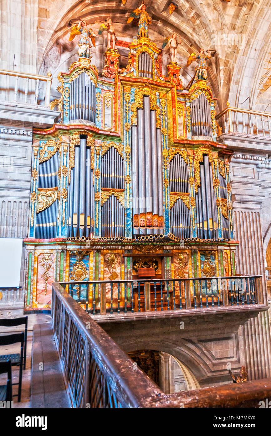 Órgano del Monasterio de San Salvador. De Celanova. Ourense. Galicia. España Imagen De Stock
