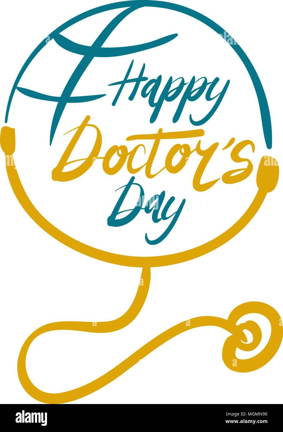 Feliz Día Del Médico Ilustración Del Vector Imagen
