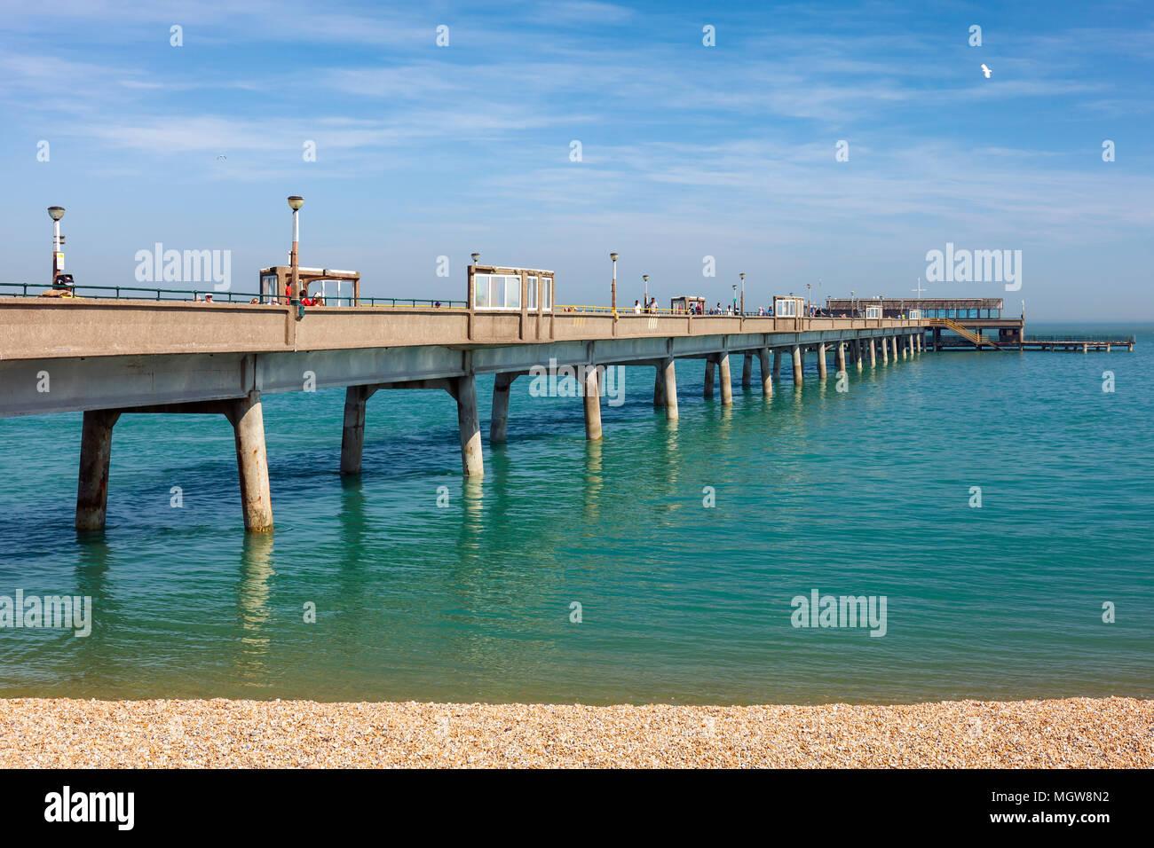 Tratar pier, Kent. Imagen De Stock