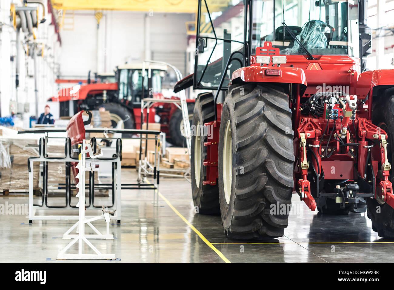 Taller de montaje en grandes plantas industriales Foto de stock