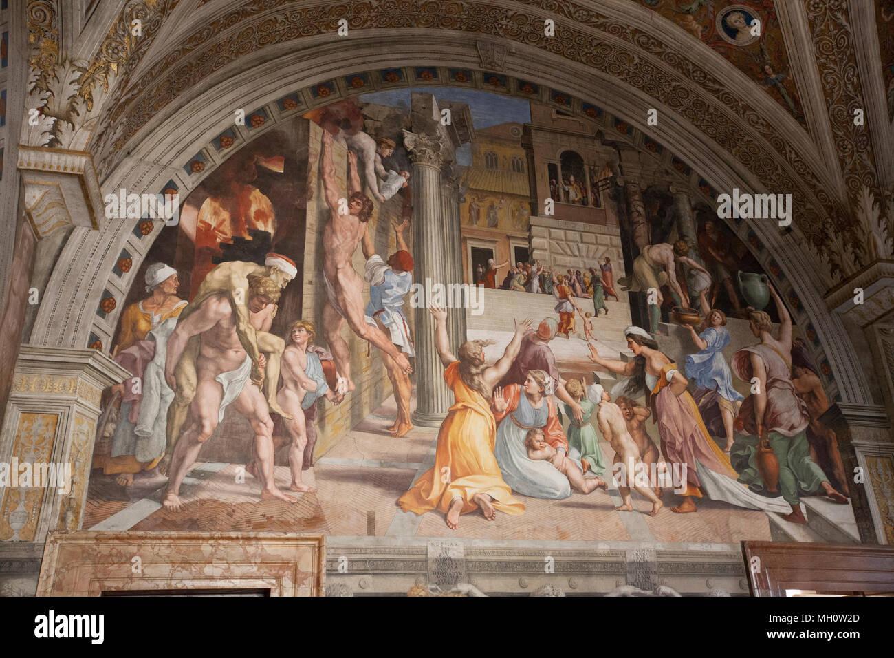 Gran Pared Mural De Arte Religioso En El Vaticano En Roma Italia