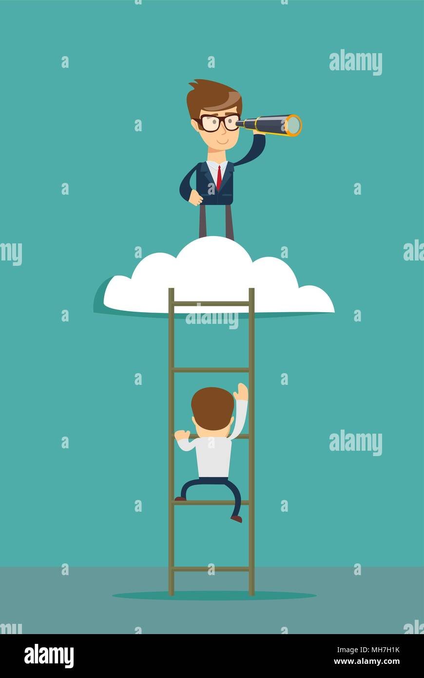 Concepto vectorial de liderazgo empresarial Imagen De Stock
