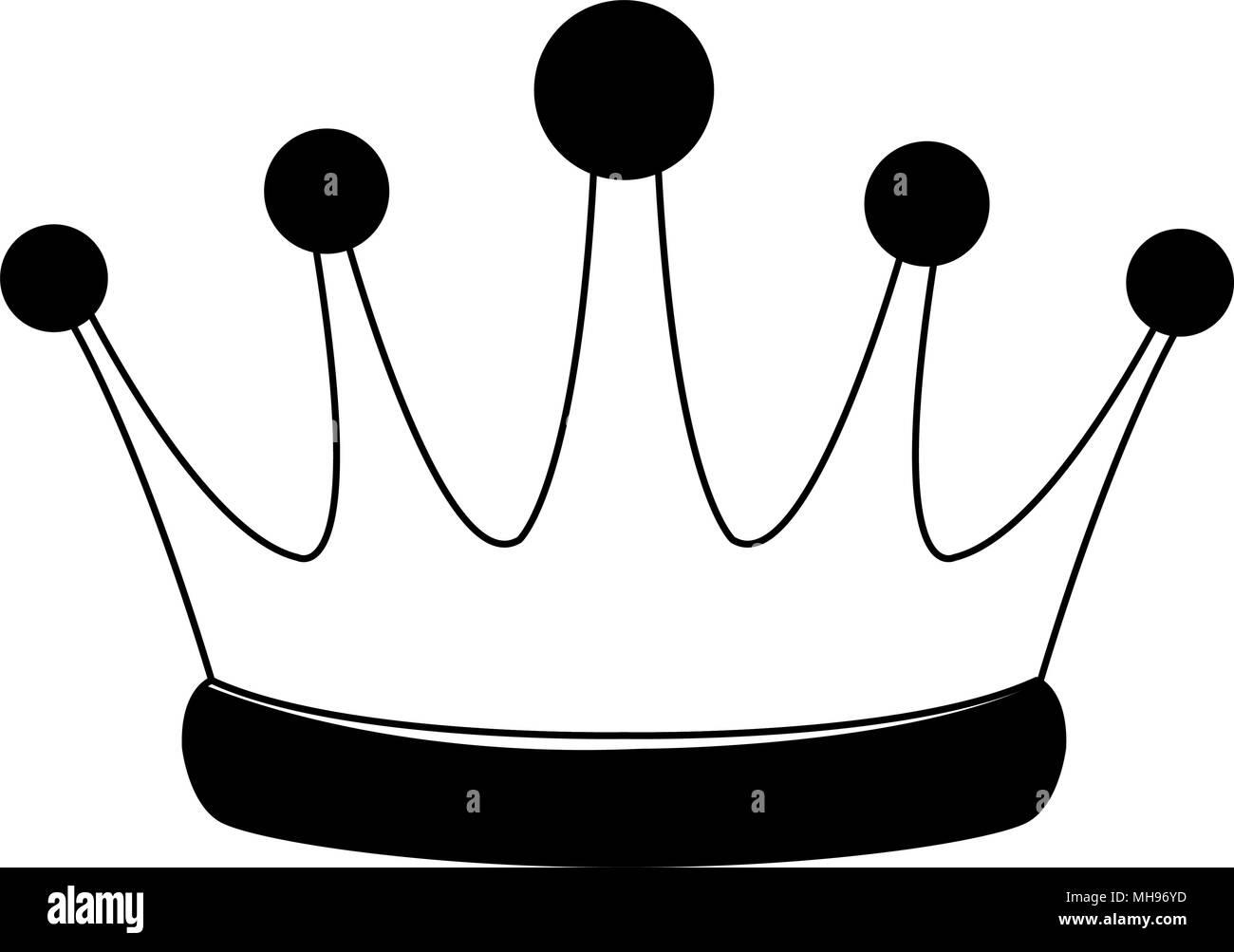 Símbolo De La Corona De Rey En Los Colores Blanco Y Negro