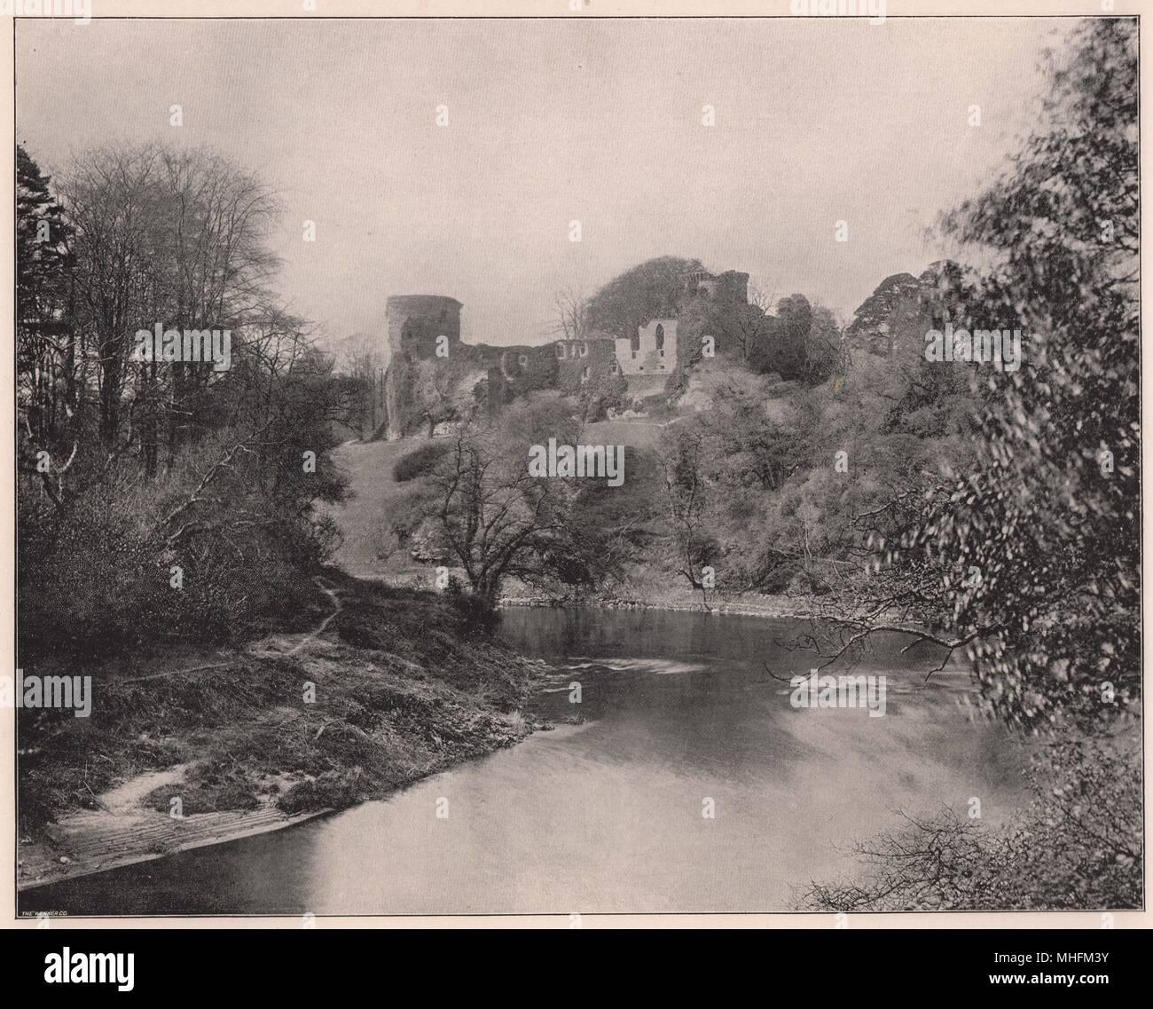 Bothwell Castle, a orillas del río Clyde, a unos 14 kilómetros de Glasgow, en la Edad Media pertenecía a la Douglases… Imagen De Stock
