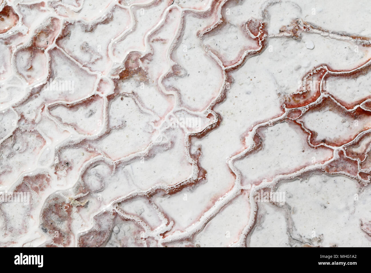 Pamukkale - depósitos de calcio a partir de aguas termales naturales, Turquía Imagen De Stock