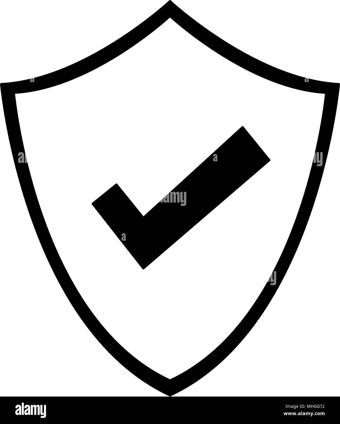 6ff1ffbfef7 Escudo con aspa en los colores blanco y negro Ilustración del Vector ...