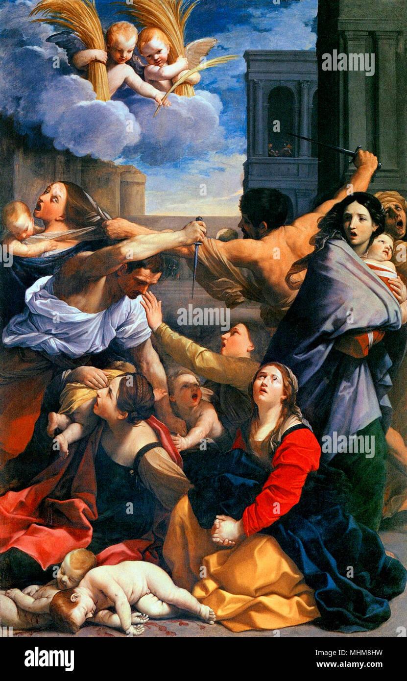 La matanza de los inocentes, Guido Reni, circa 1611 Foto de stock