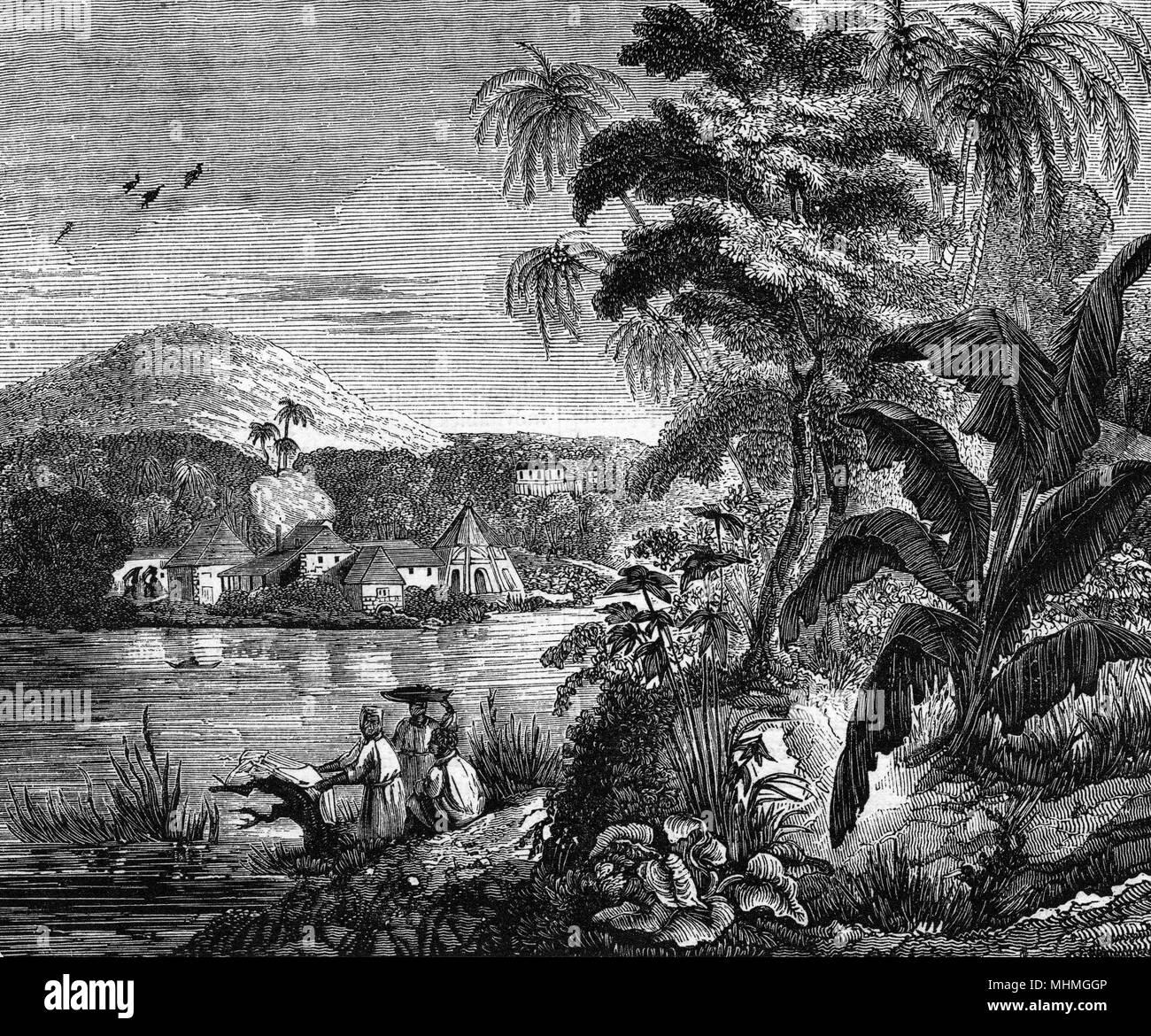Un azúcar planation, Fecha: 1837 Foto de stock