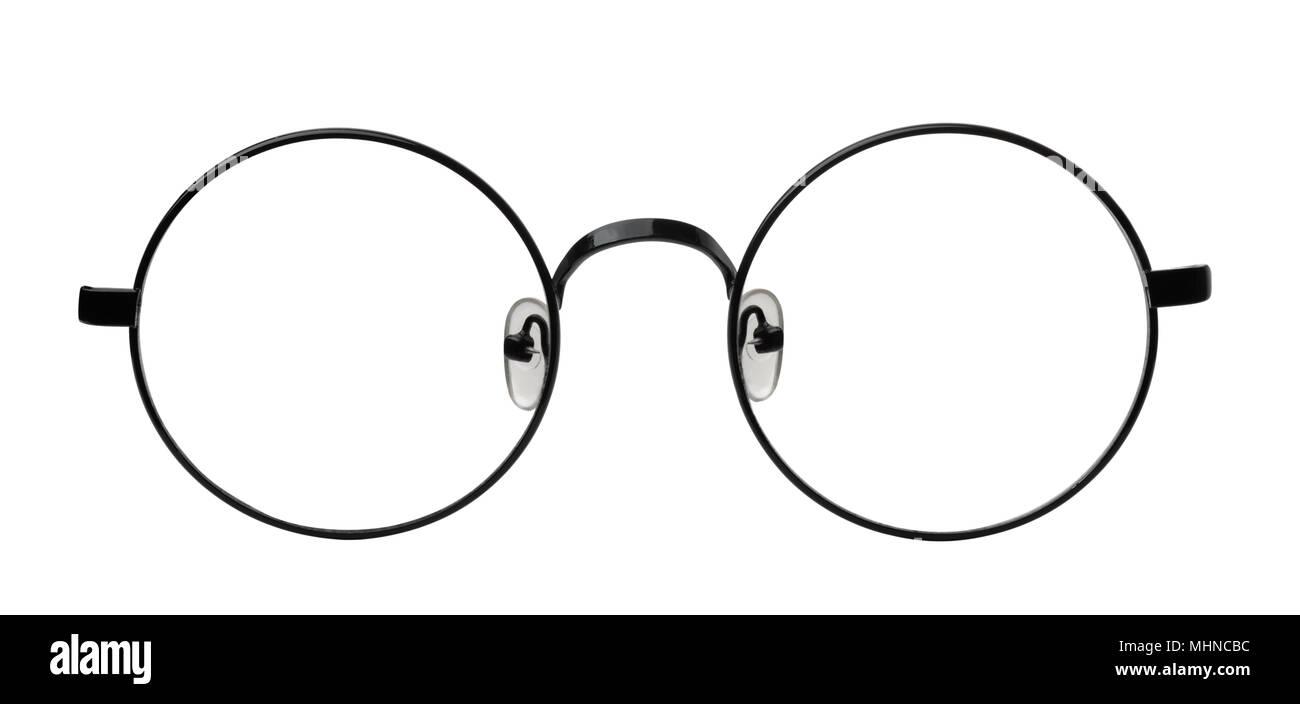 a9885b828b Vista frontal de las gafas redondas fotograma aislado en blanco Foto ...