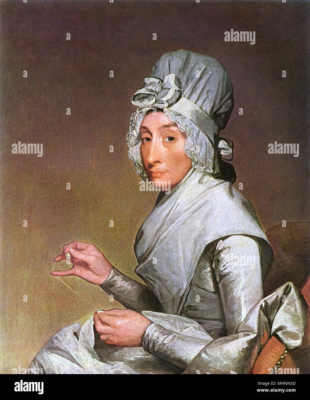 La Sra. Richard Yates de Gilbert Stuart (1755-1828) - óleo sobre lienzo. Retrato de la esposa de un comerciante de Nueva York. Fecha: 1793 Foto de stock