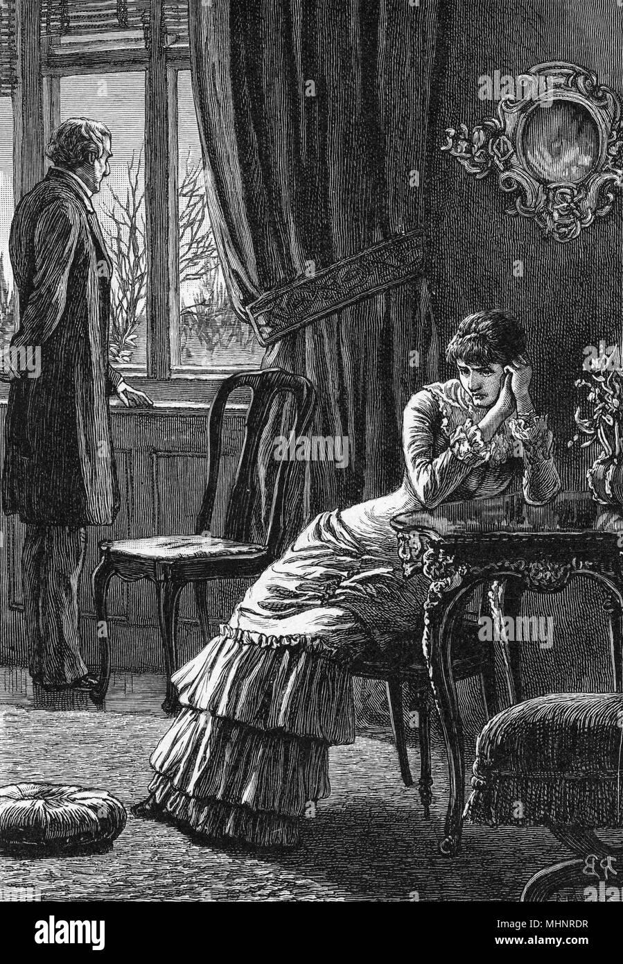 Tensa escena nacional Fecha: c.1880 Imagen De Stock