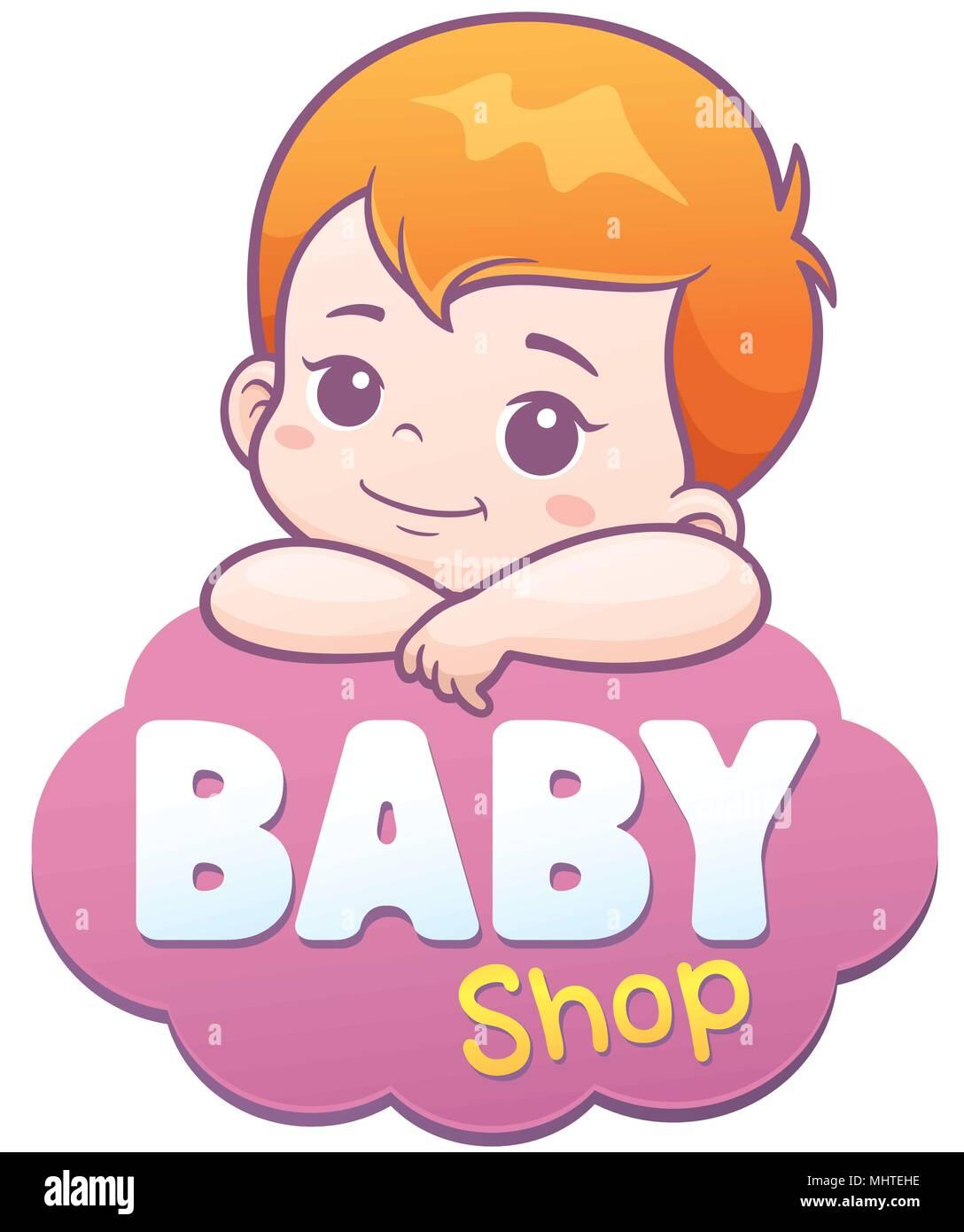 Ilustración Vectorial De Dibujos Animados Lindo Bebé Concepto Del