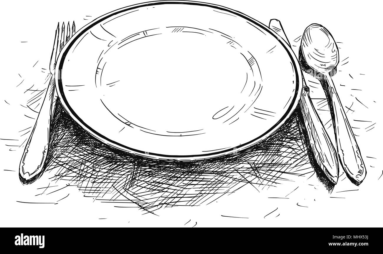 Knife And Fork Illustration Imágenes De Stock & Knife And