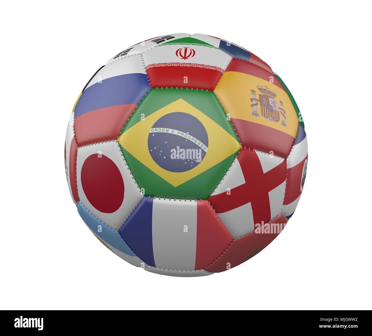 5a44f7c2c8d5f Illustration Soccer Ball Football Brazil Imágenes De Stock ...