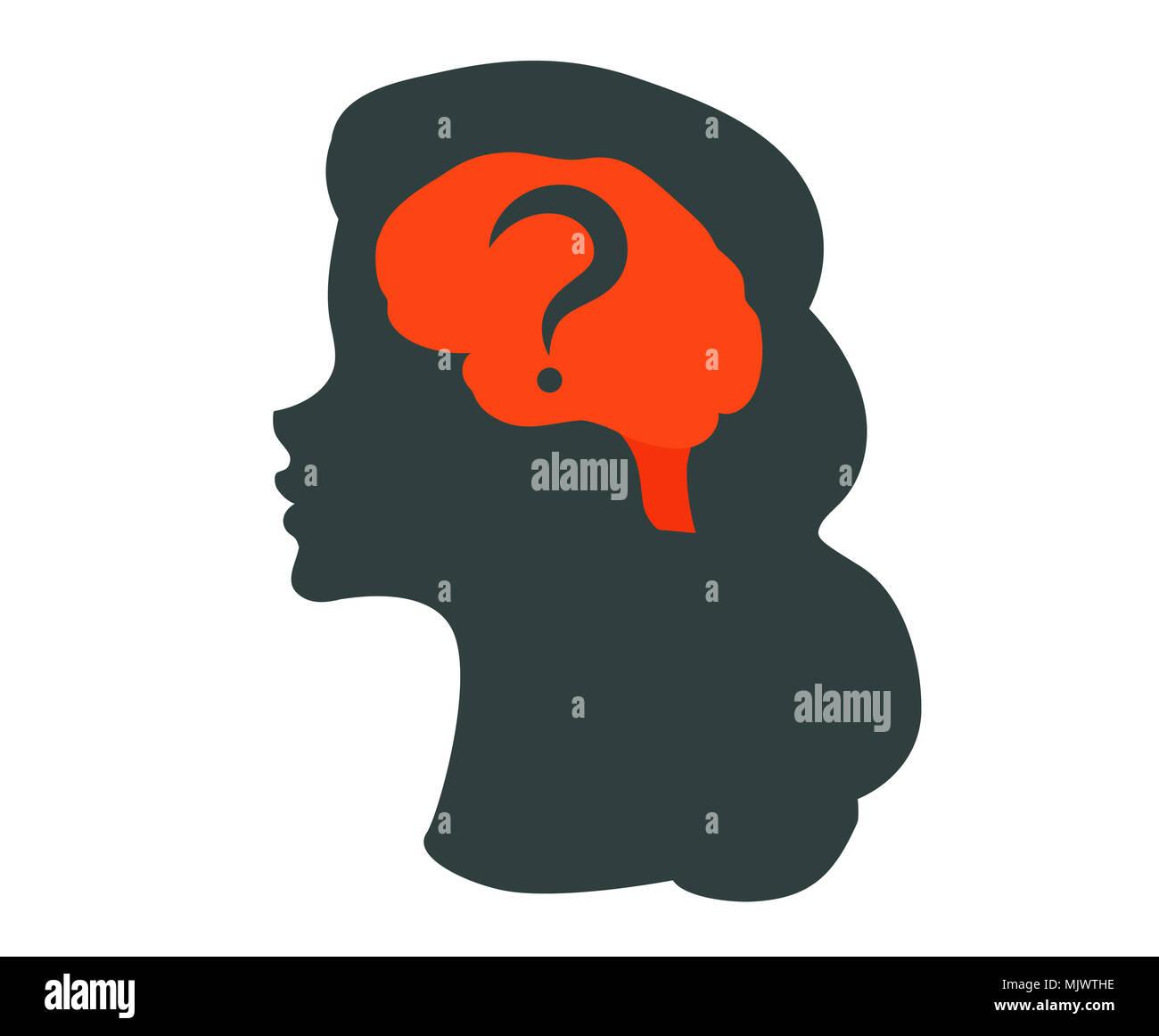 Ilustración del cerebro humano Imagen De Stock