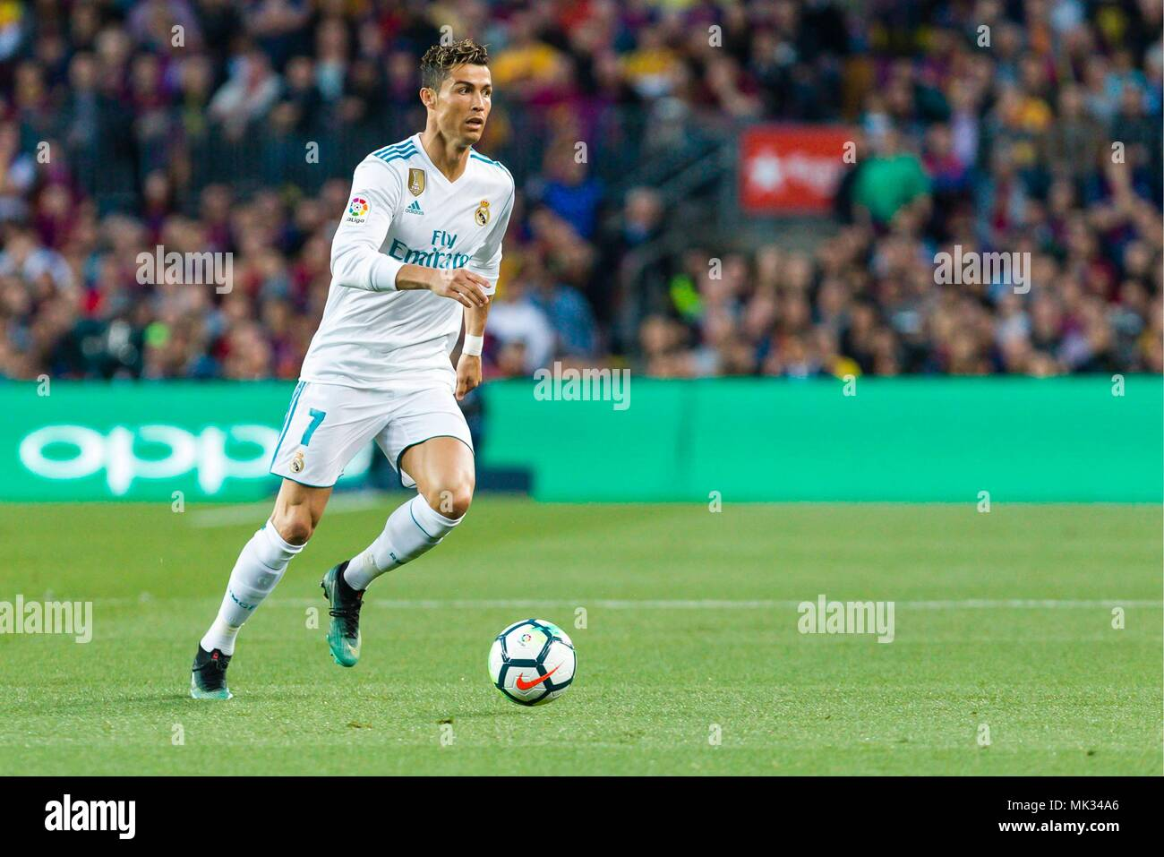 Avance Real Madrid Cristiano Ronaldo 7 Durante El Partido Entre