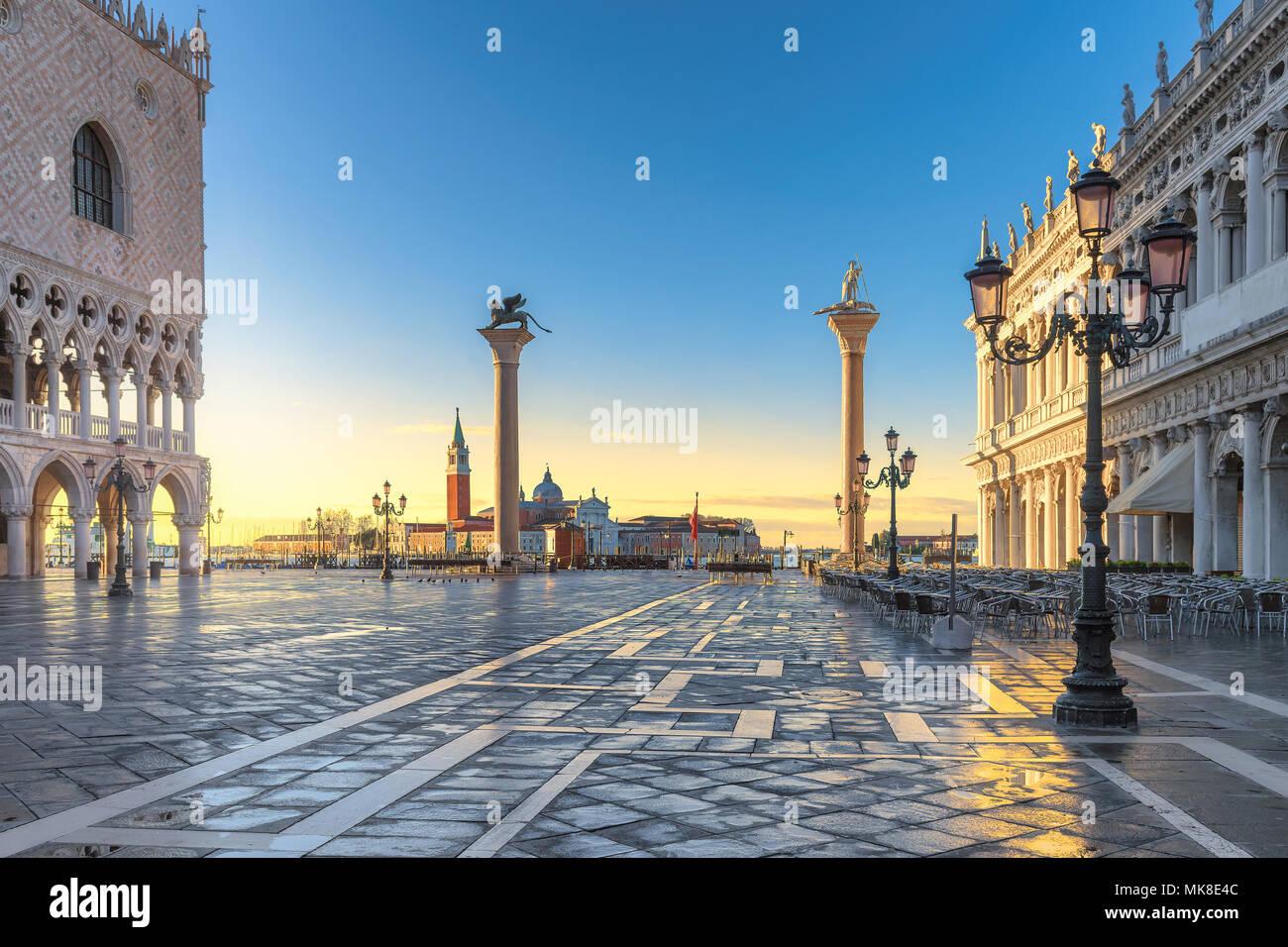 Venecia al amanecer. San Marcos, Ilaly. Imagen De Stock