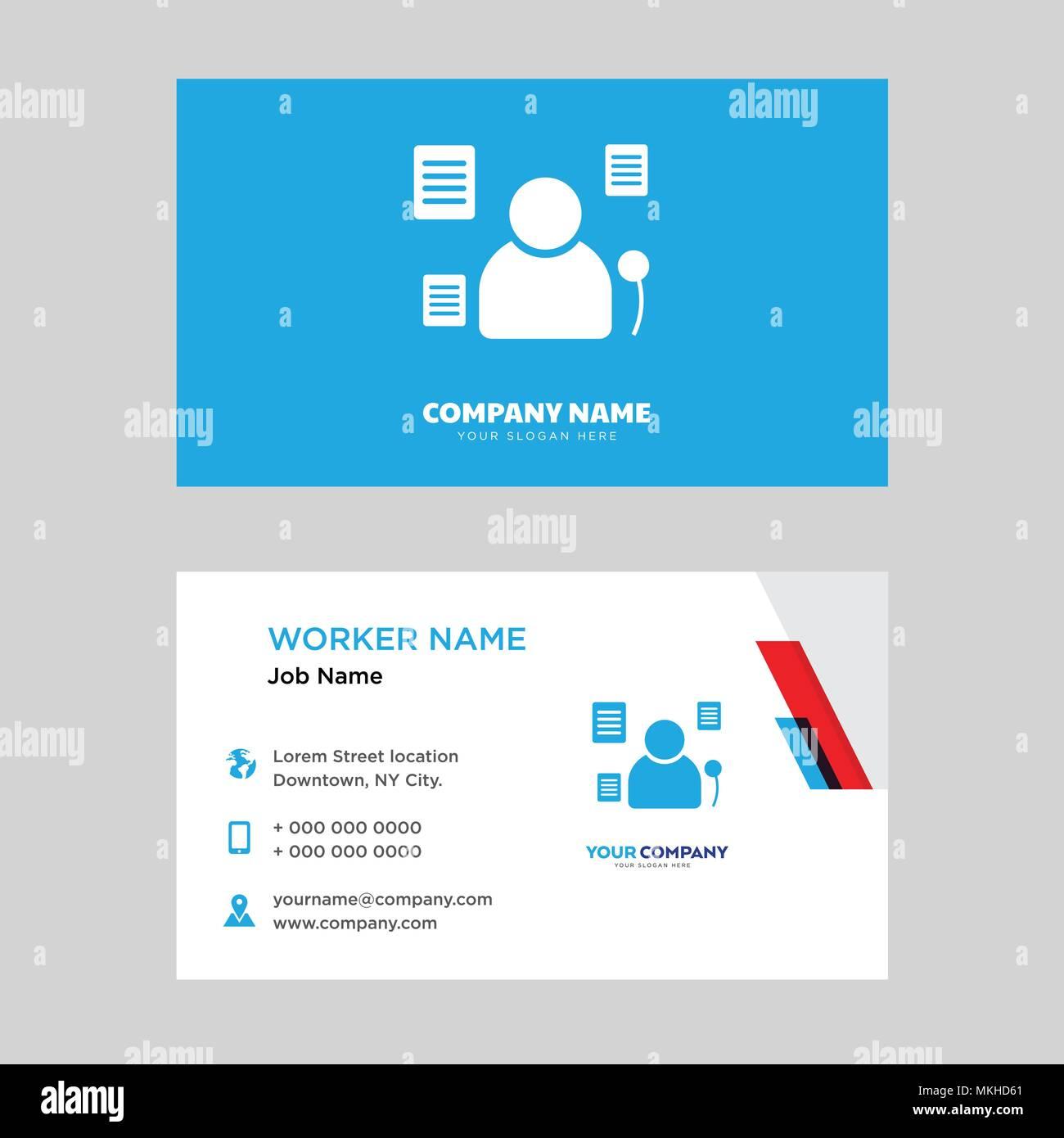 Plantilla de diseño de tarjeta de negocio político, visitando para ...