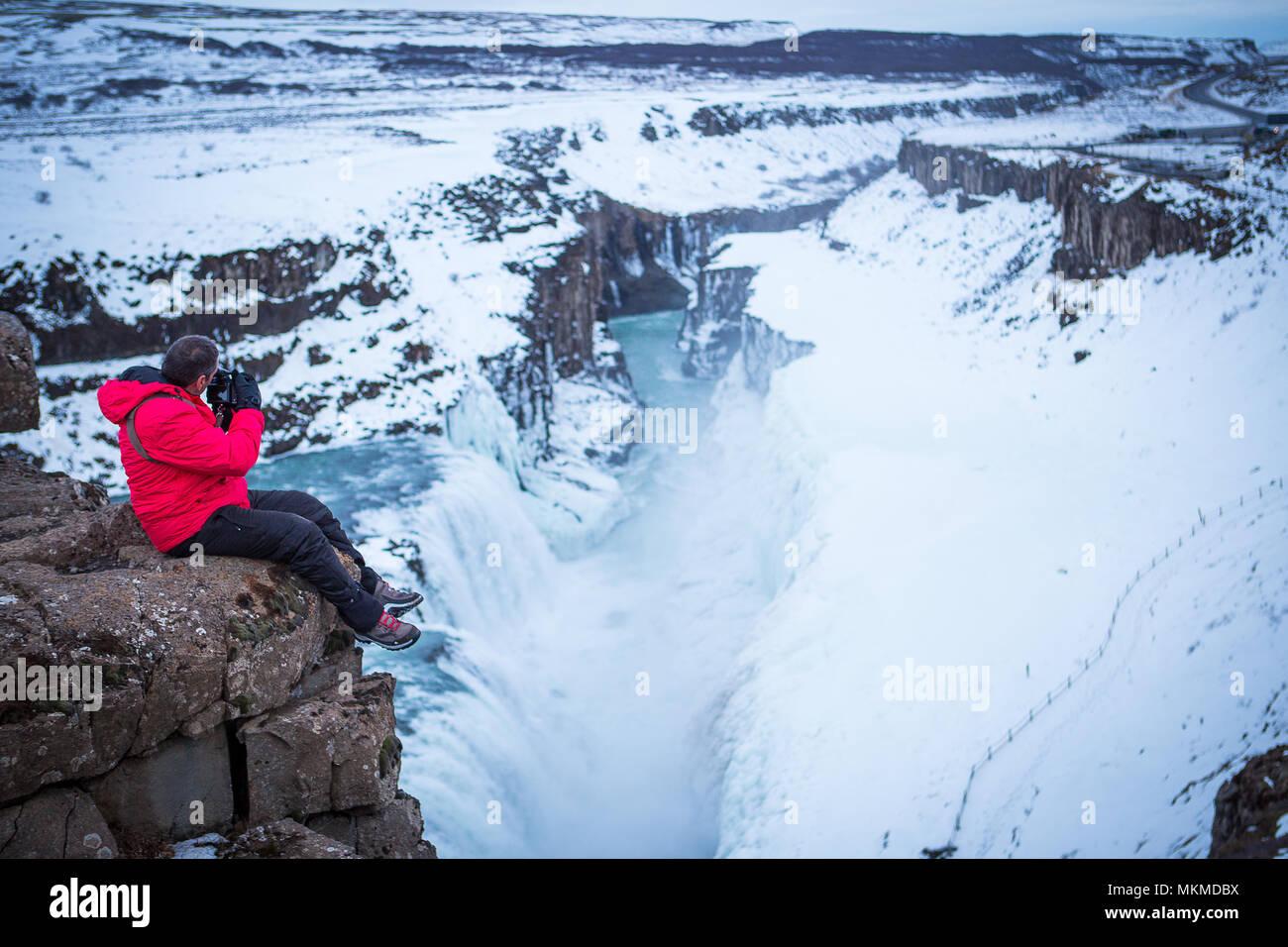 Viajes Islandia, Northern lights (glaciares, nieve, hielo, iceberg) Foto de stock