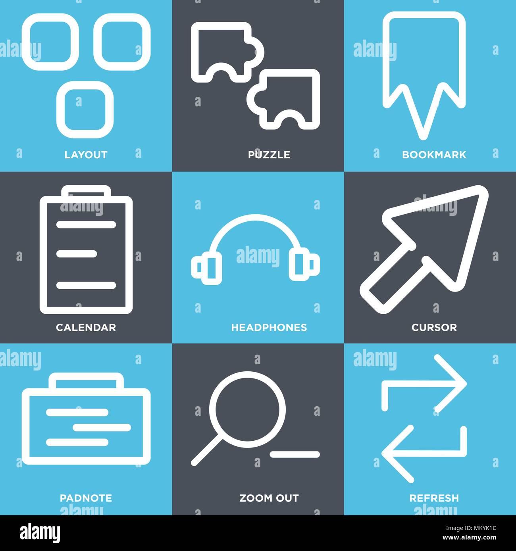 Actualizar Calendario.Conjunto De 9 Iconos Editables Sencillos Tales Como