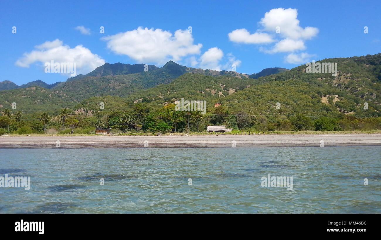 Playas tropicales en la isla de Atauro, Timor Oriental Foto de stock