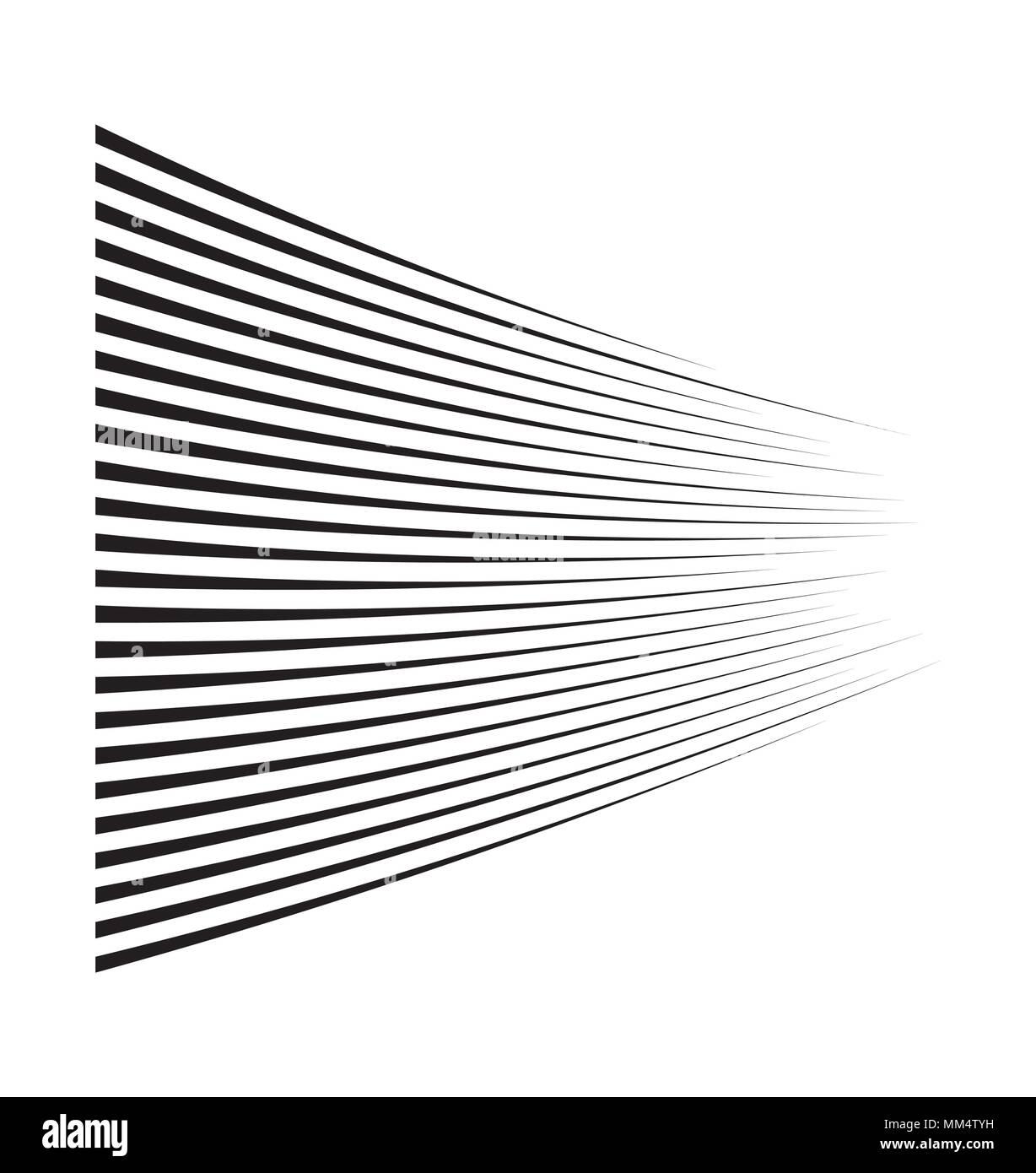 Velocidad de movimiento horizontal de líneas para comic book Imagen De Stock
