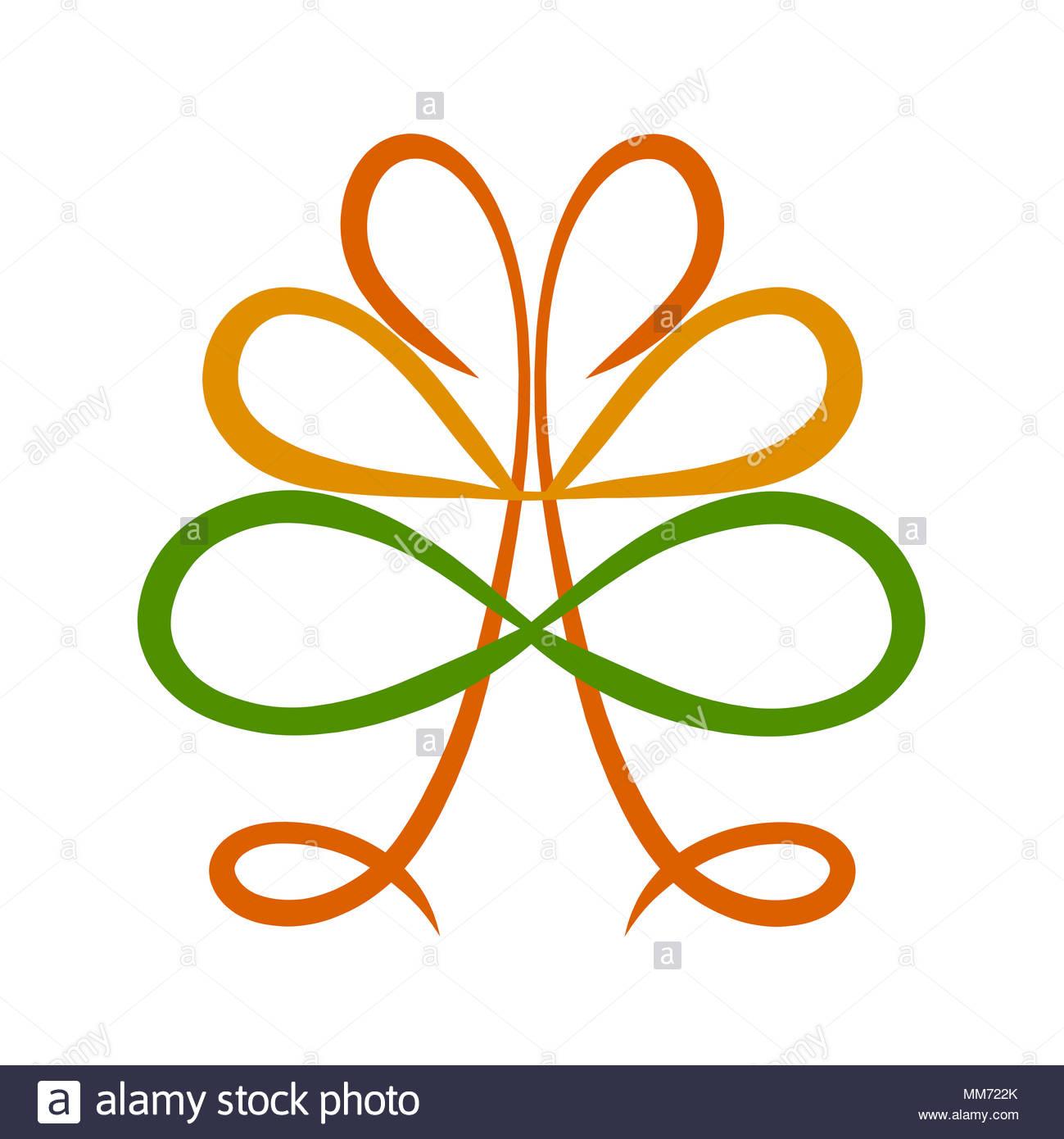 árbol Simbólico Con El Símbolo Del Infinito Y Corazones Foto