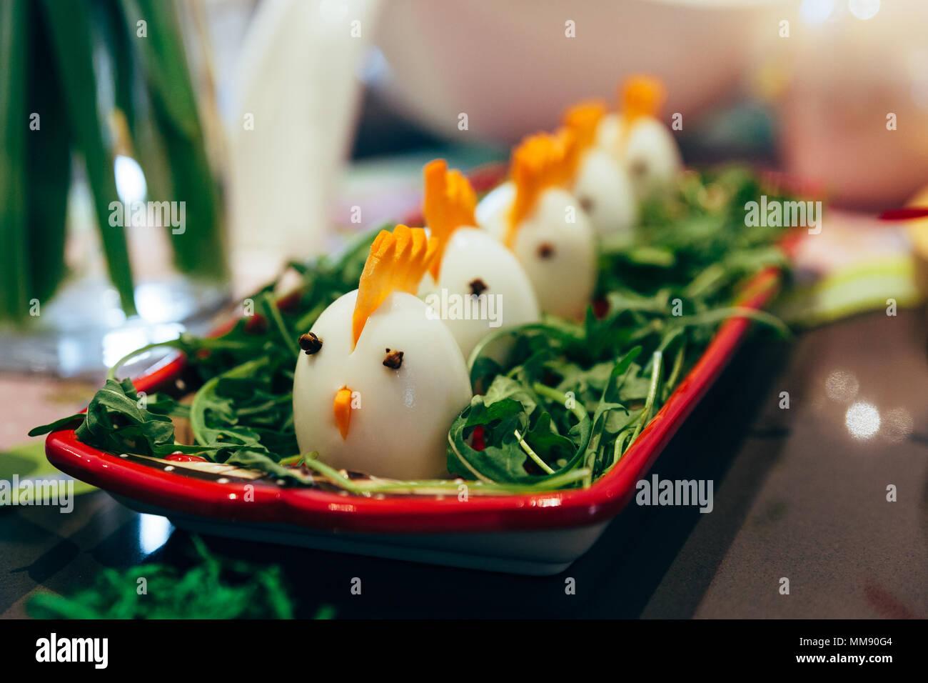 Decorado huevos hervidos Foto de stock