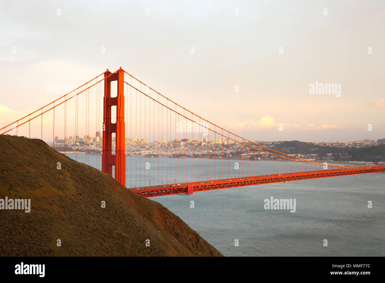 El Puente Golden Gate en San Francisco, California, EE.UU. Imagen De Stock