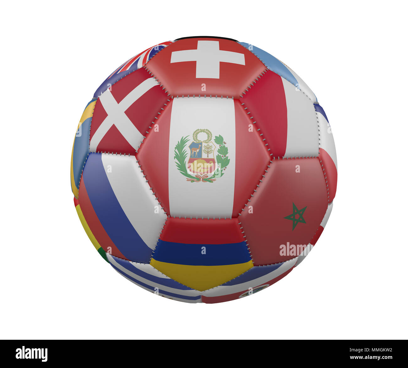 Colombia Flag Soccer Ball Football Imágenes De Stock   Colombia Flag ... a2b1eb53060d2