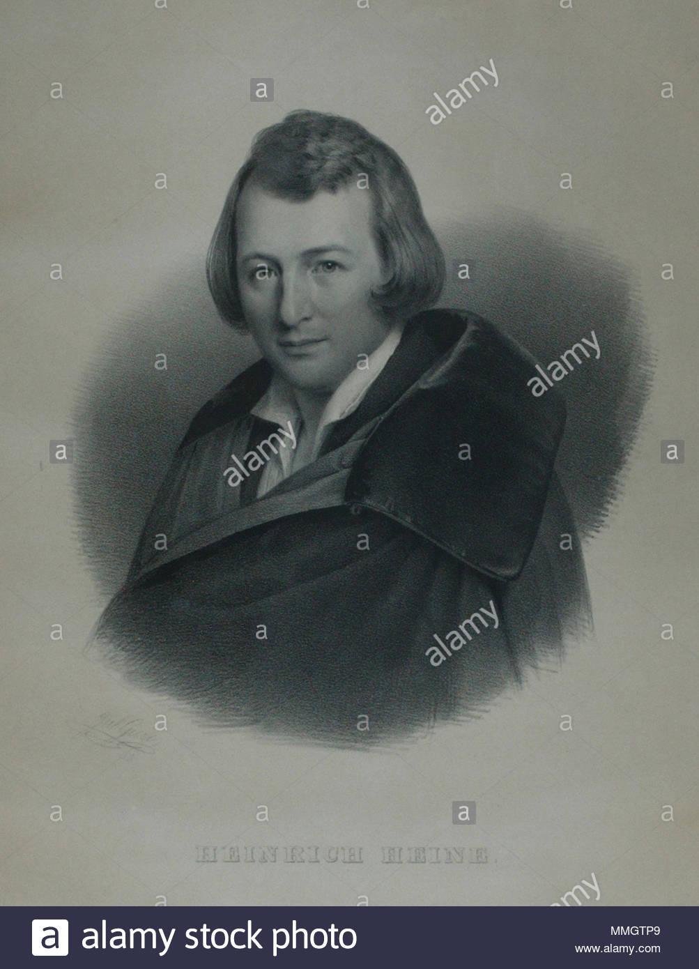 mehr Fotos Original Kauf hoch gelobt Deutsch: Heinrich Heine, Lithographie Nach einer eigenen ...