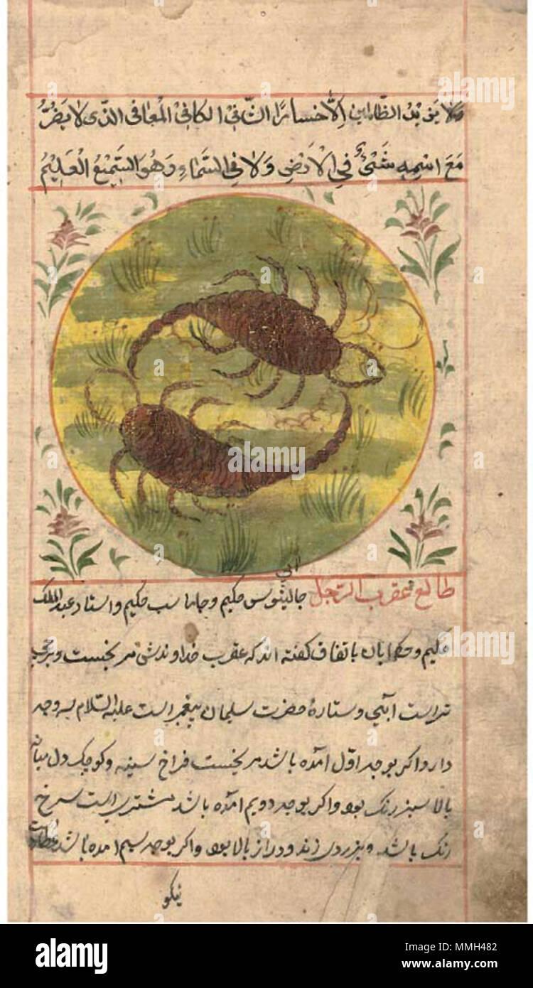Inglés Un Manuscrito Persa En Talismanes Norte De India