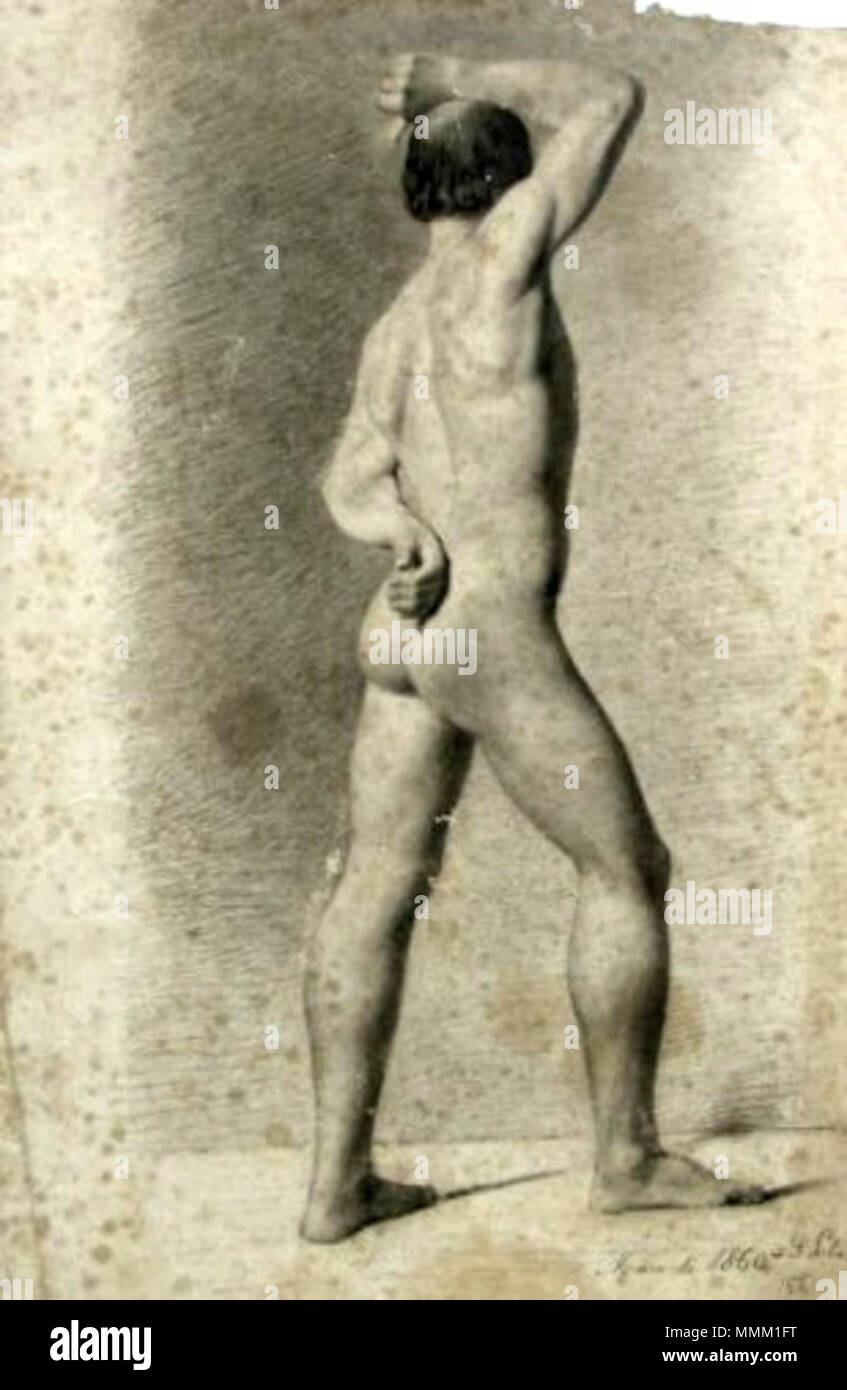 Antônio de Sousa Lobo - Nu masculino de costas Imagen De Stock