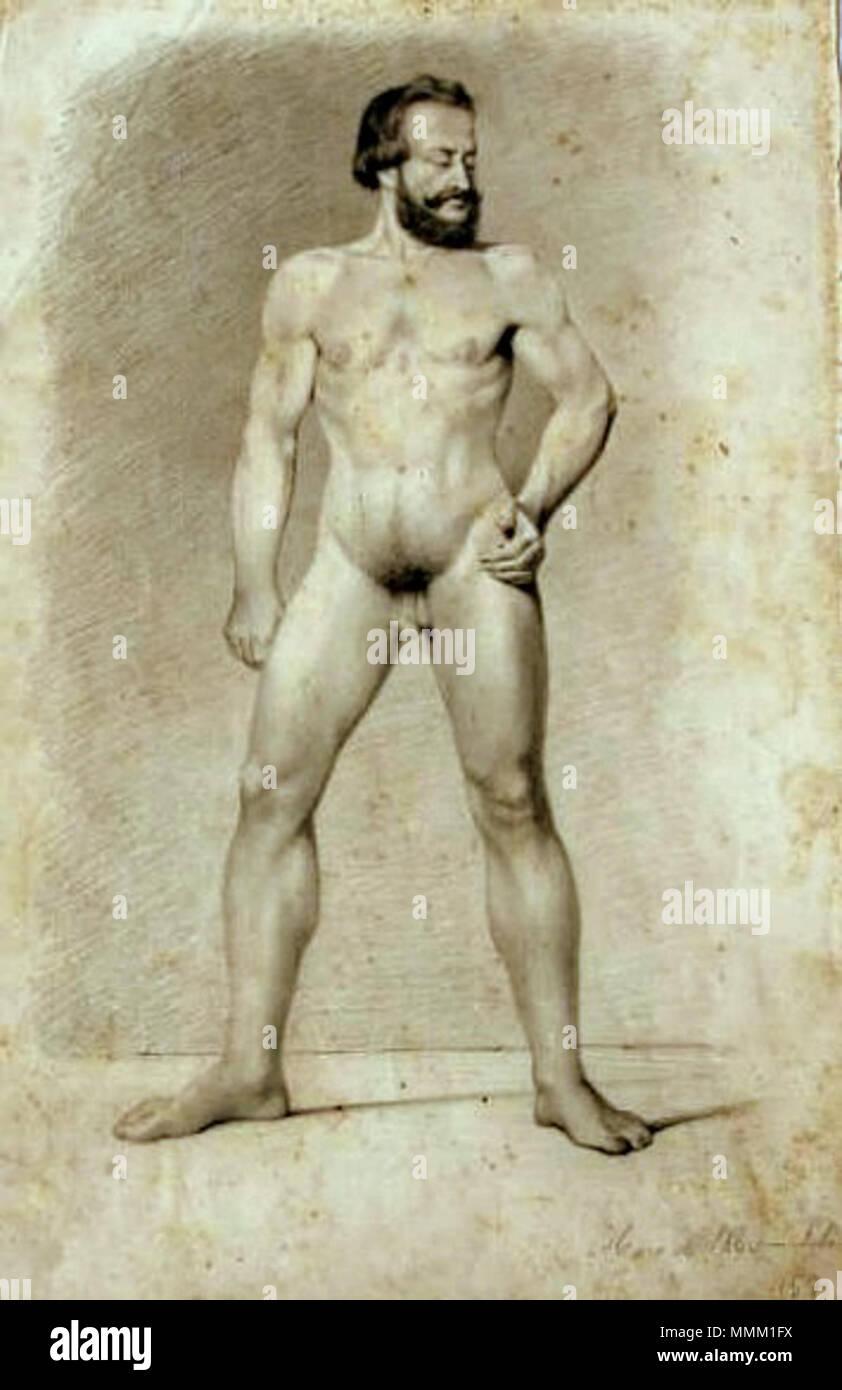 Antônio de Sousa Lobo - Nu masculino de frente Imagen De Stock