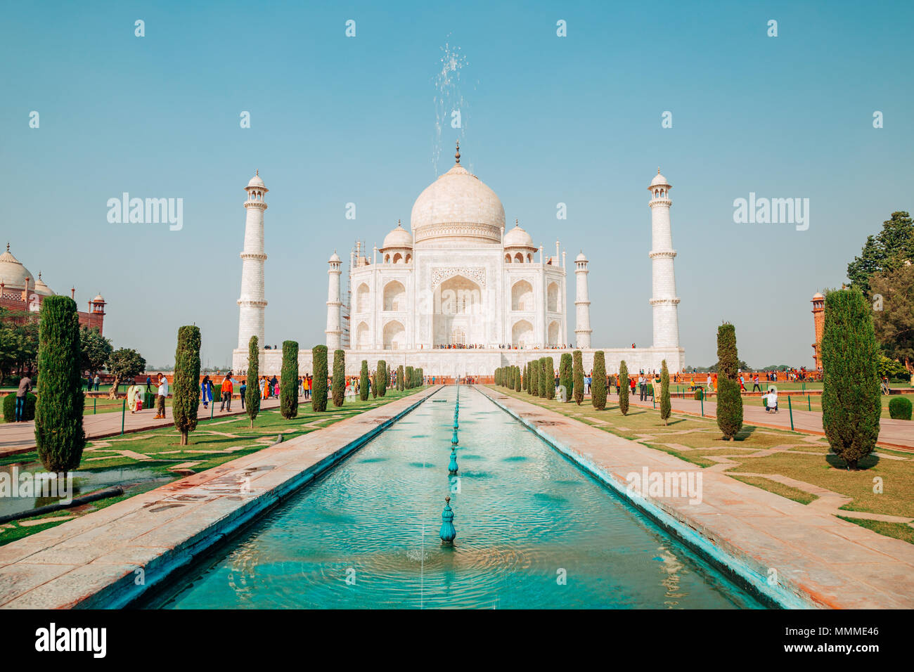 Taj Mahal en Agra, India Imagen De Stock