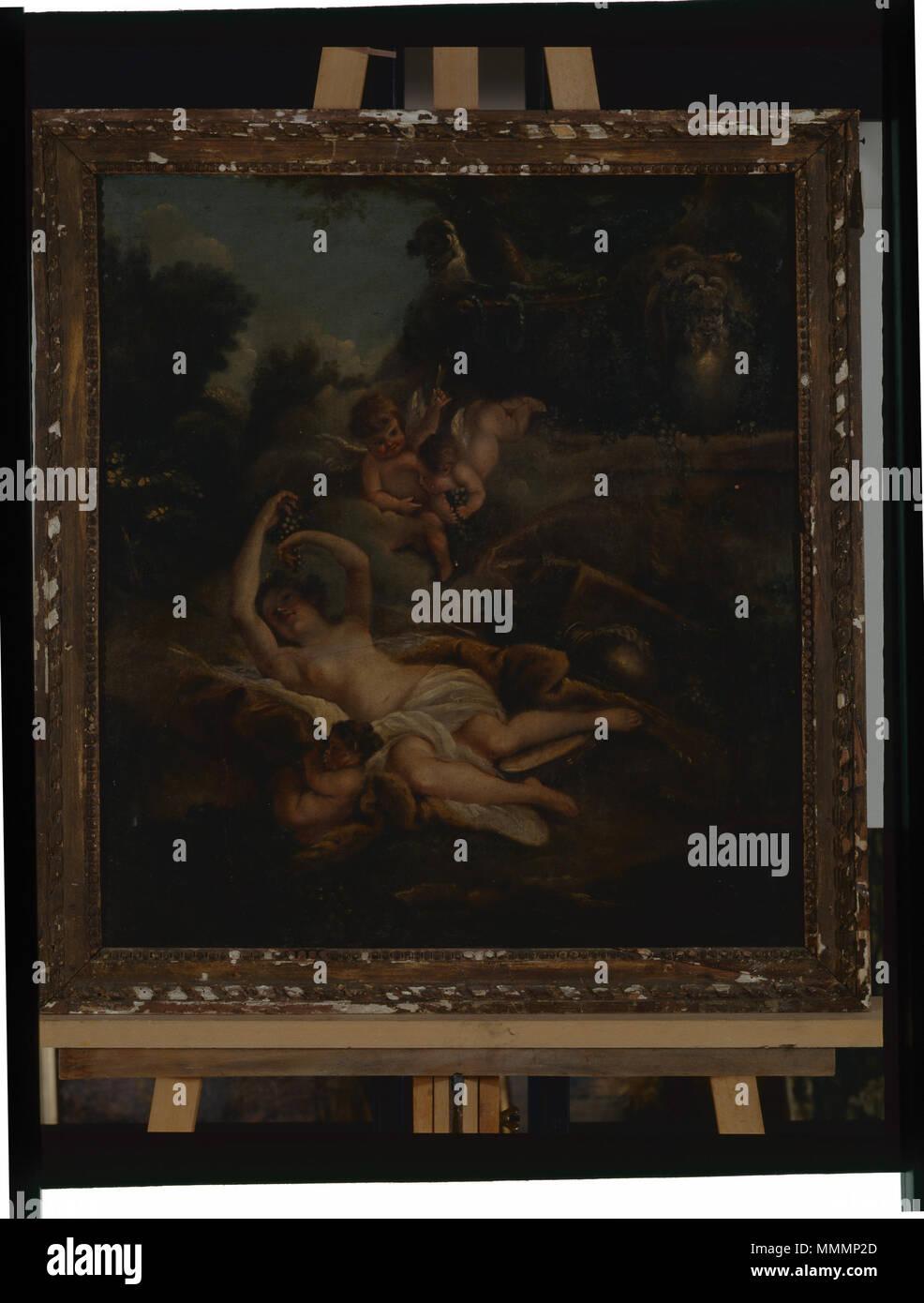 Femme nue couchée - anonyme - Musée d'art et d'histoire de Saint-Brieuc, 228 Foto de stock