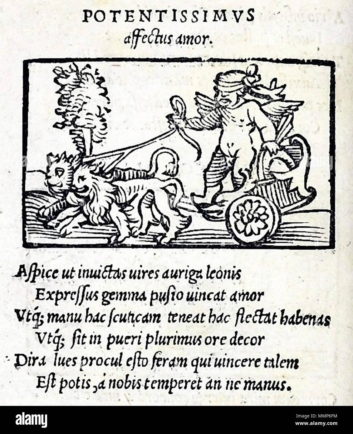 Inglés Emblema Del Emblematum Liber Augsburgo 1531 Con Este