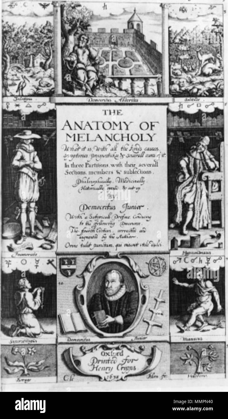 The Anatomy Of Melancholy Imágenes De Stock & The Anatomy Of ...