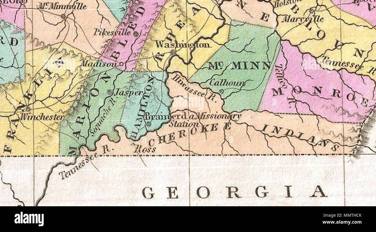Inglés: un hermoso ejemplo de Finley es importante 1827 Mapa de ...