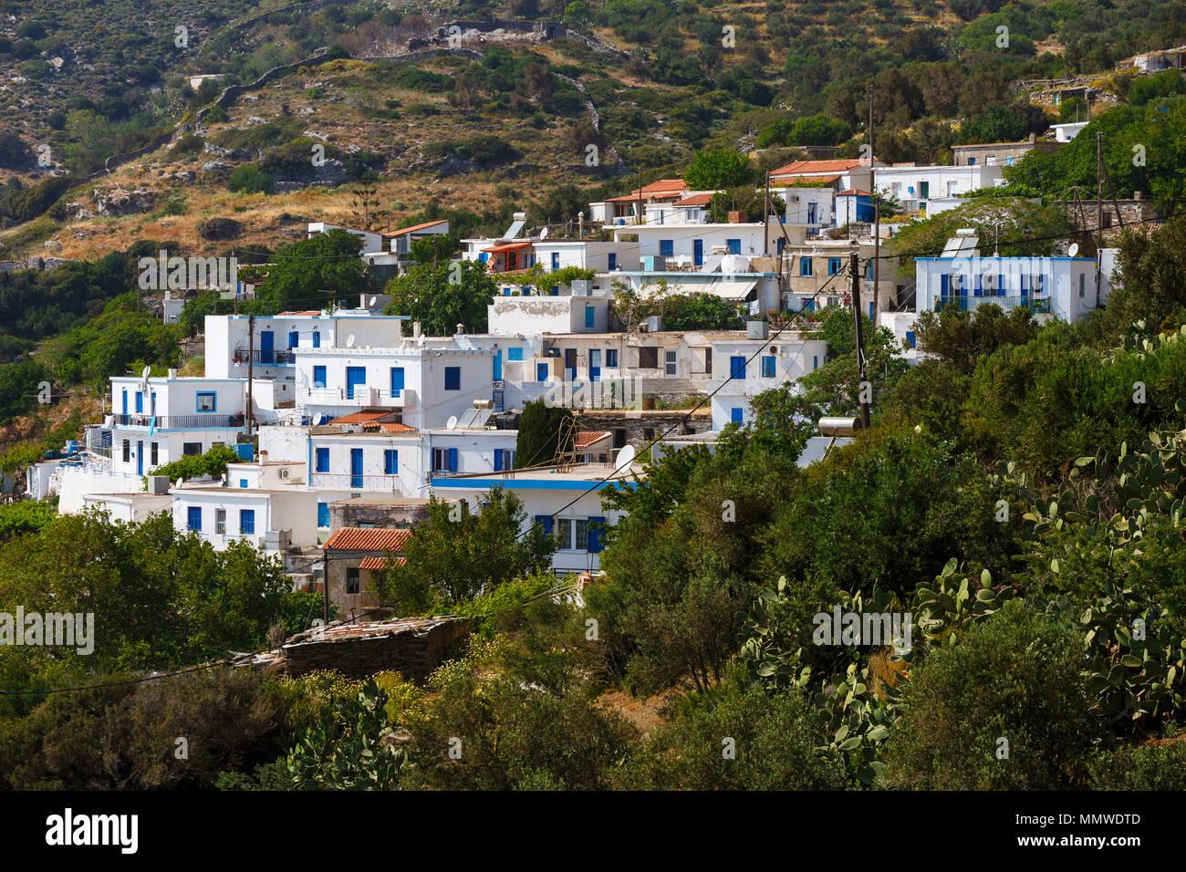 En la aldea Chrysomilia Fourni Island, Grecia. Imagen De Stock