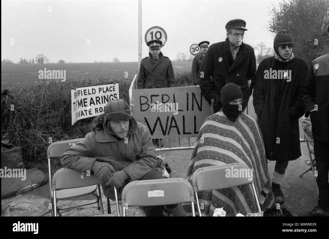 Las mujeres de Greenham Common Peace Camp 1985, gente protestando. 1980 UK HOMER SYKES Imagen De Stock