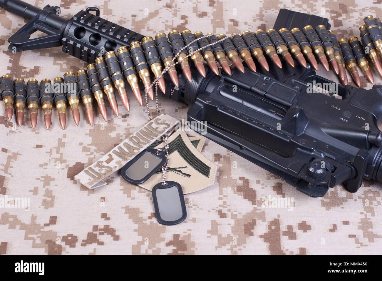 El concepto de fondo de los Marines estadounidenses Foto de stock