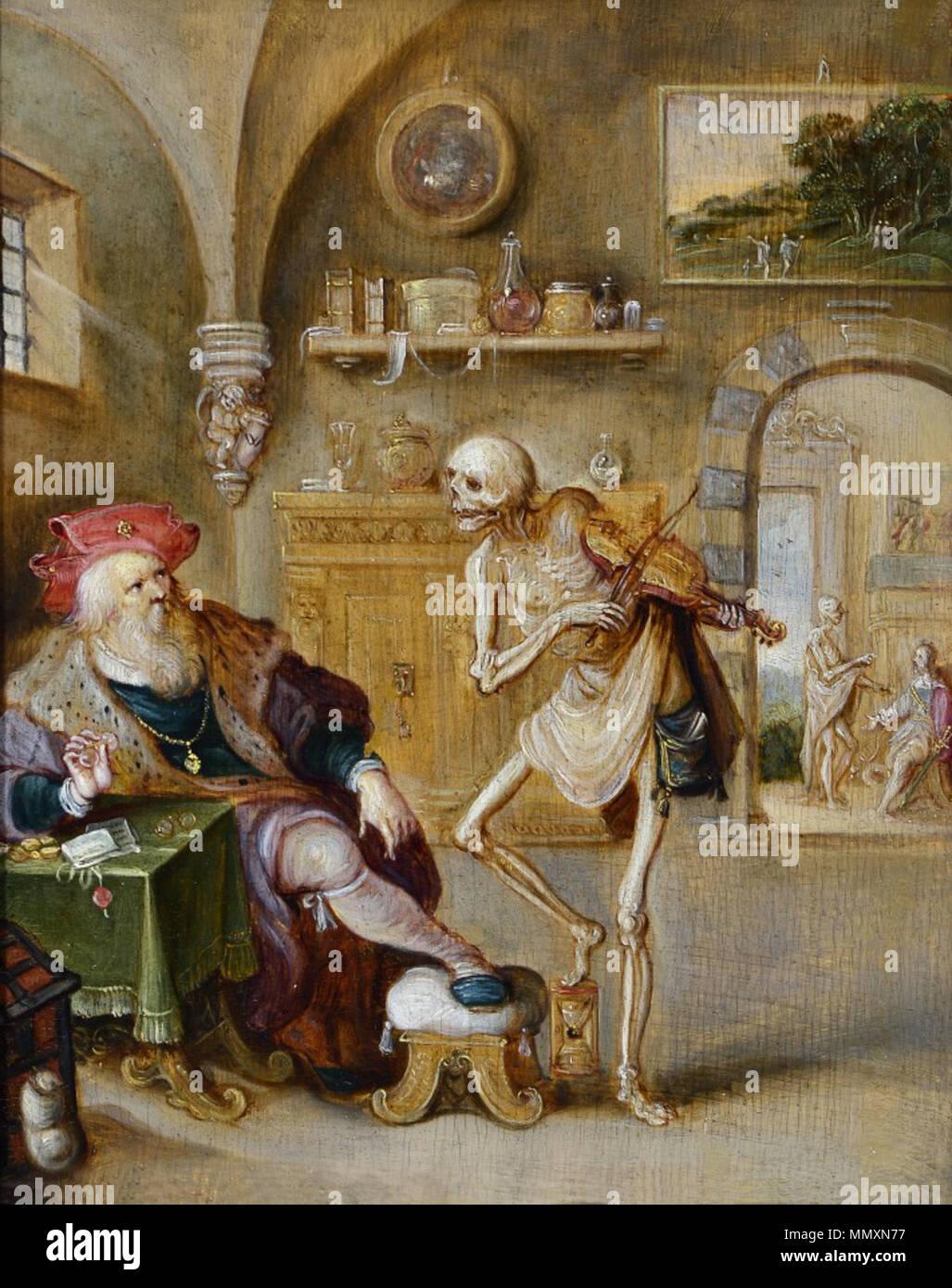 Inglés La Muerte Tocando El Violín Siglo Xvii Frans Francken Ii La Muerte Tocando El Violín Fotografía De Stock Alamy