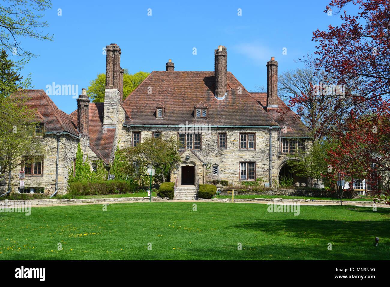 1920 era Harley Clark mansión situada a las orillas del Lago Michigan, en Evanston, Illinois. Imagen De Stock