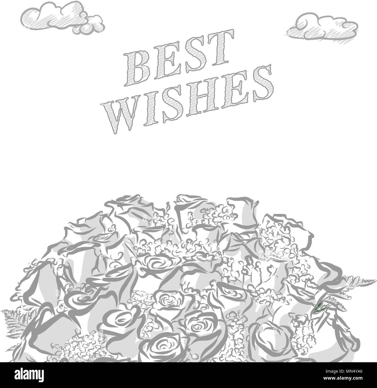 Los Mejores Deseos De Marketing Dibujado A Mano Tapa Un Dibujo