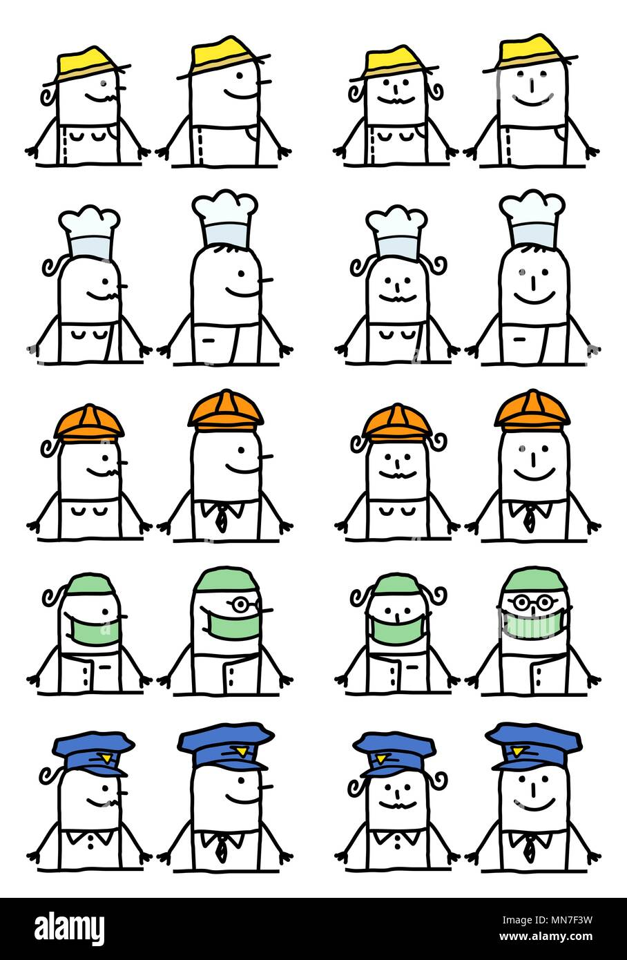 Los Personajes De Dibujos Animados Empleos Y Ocupaciones