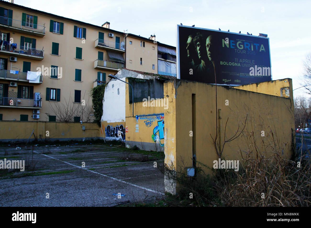 Escenas Urbanas, capturados en los suburbios de la ciudad de Bologna, Italia Foto de stock