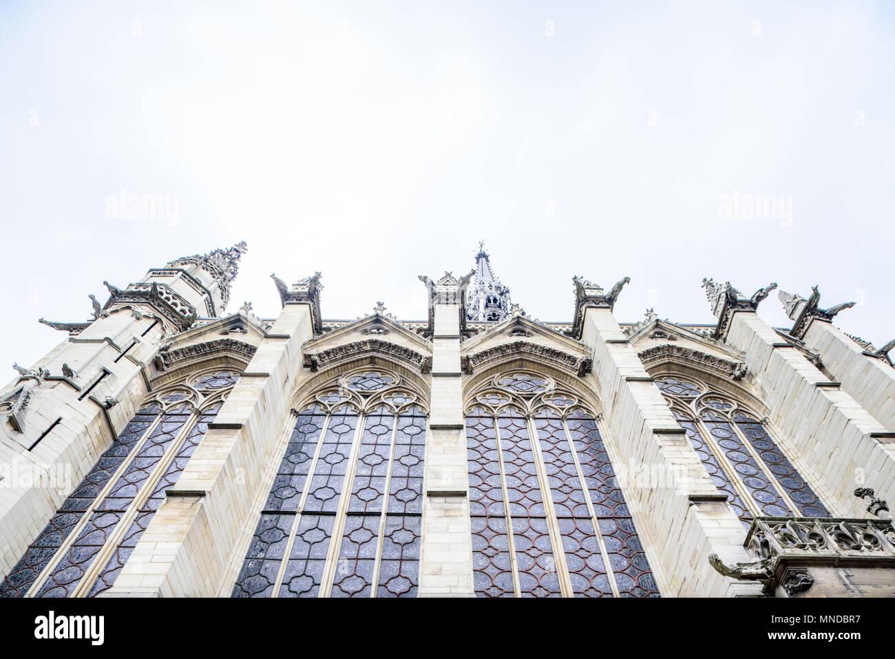Francia Paris 1 De Abril De 2018 La Sainte Chapelle Foto