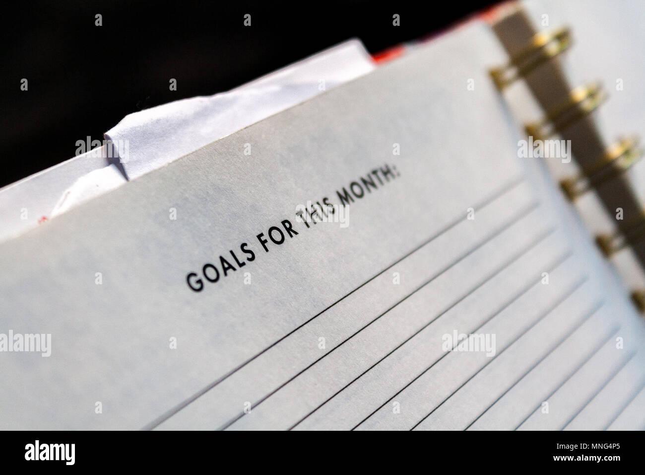 Auto motivación mediante el ajuste de la meta Imagen De Stock